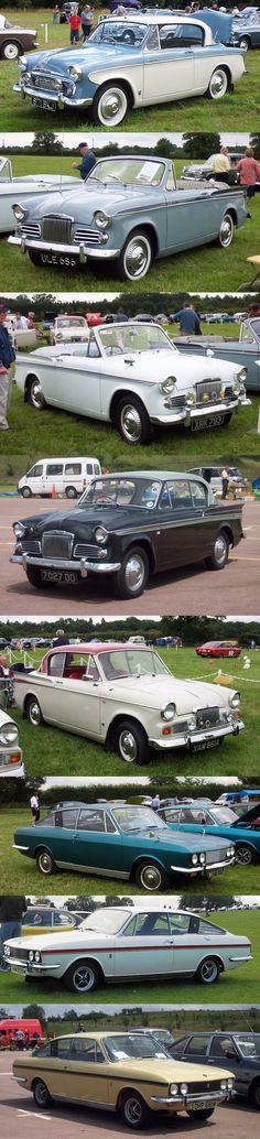 Sunbeam Rapier Model Evolution: 56, 58, 59, 61, 63, (Chrysler buys the Rootes Auto Company in 1967), 73, 74, 76.
