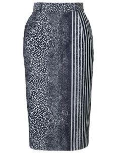 Preen Stingray Stripe Pencil Skirt Preen