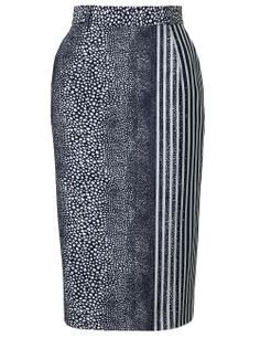 Preen Stingray Stripe Pencil Skirt Preen
