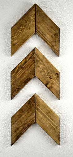 Rustic Wood Arrows Set of 3 Wall Arrows Rustic by MintageDesigns