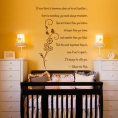 Sweet Pooh Bear Quote- perfect for a nursery.