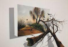 "Saatchi Art Artist Eka Peradze; Painting, ""SOLD. Nature. # 111 - 50x70cm. 3D"" #art"