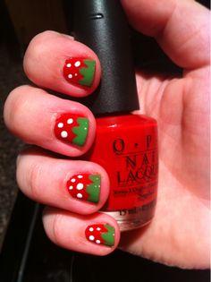 strawberry fingernails