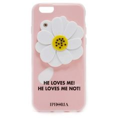 Iphoria He Loves Me Mirror iPhone 6 / 6s Case ($55) ❤ liked on Polyvore featuring accessories, tech accessories, pink, iphone cover case, apple iphone cases, flower iphone case, pink iphone case and iphone cases