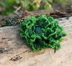 Deep Forest Moss Pendant  Emerald dendriform by FableBubble