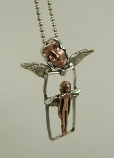 Ready To Fly...angel pendant...by Robin Wade