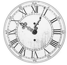 clock face with ornate hands