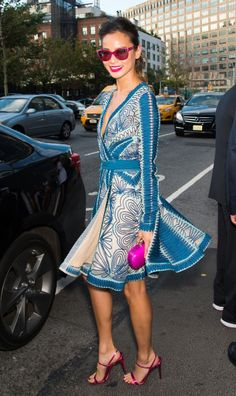 Actress Jamie Chung is seen at Diane Von Furstenberg fashion show during Mercedes-Benz Fashion Week Spring 2015 at Spring Studios on September 7, 2014 in New York City.  (Photo by Gilbert Carrasquillo/Getty Images)