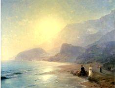 Pushkin and Countess Raevskaya by the sea near Gurzuf and Partenit - Ivan Aivazovsky