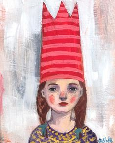 Devona - an Anglo-Saxon name meaning protector and a striped crown and freckles :) oil painting on wood by Amanda blake Oil Paint On Wood, Painting For Kids, Children Painting, Rock Painting, Anglo Saxon, Art Sketchbook, Face Art, Lovers Art, Amazing Art