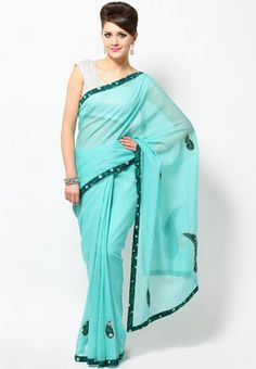Embroidered saree for women by Aapno Rajasthan and This saree is made of cotton silk. Look gorgeous when you drape this beautiful creation from the house of Aapno Rajasthan. This embroidered saree is a wonderful addition to your ethnic wardrobe. Made of cotton silk, this saree is lightweight and durable in every way.