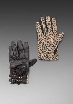 MAISON SCOTCH Gloves in Leopard