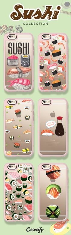 Keep calm and sushi on! Take a look at our sushi collection here: https://www.casetify.com/search?keyword=sushi | @casetify