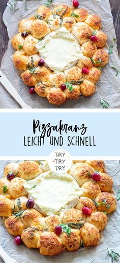 Pizzabrötchen-Käse-Kranz - Health and wellness: What comes naturally Lacto Vegetarian Diet, Vegetarian Lunch, Vegetarian Recipes, Healthy Cooking, Healthy Snacks, Pizza Recipes, Snack Recipes, Eggplant Dishes, Snacks Für Party
