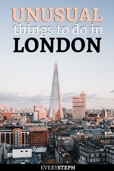 Eye-opening tours, trips to lavender fields, and secret parties: there is no shortage of things to do in London off the beaten path. Check out this list of 16 cool and unusual things to do in London! Europe Destinations, Europe Travel Tips, European Travel, Budget Travel, Holiday Destinations, Travel Guides, Travel Articles, Travel Packing, Day Trips From London