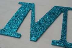 Turquoise Glitter Wall Letters