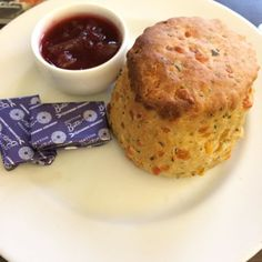 Not jam but chutney! Perfect with cheese #scone @cafesbyhpl Cafe Modern 2 #edinburgh