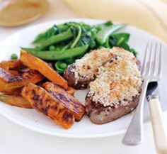Macadamia lamb with orange chips | Australian Healthy Food Guide