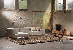 #hoekbank Design@home - #lindustrieel #stoer #beige - #Goossens wonen slapen