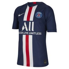 Check out our full selection of PSG football kit, including this Junior Nike Paris Saint Germain Home Shirt 2019 Order yours today! Nike Paris Saint Germain, France 98, Breathe, Logo Nike, Lionel Messi Barcelona, Nike Fleece, Football Kits, Kids Football, Kids Soccer
