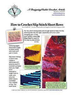 Slip Stitch Short Row Tutorial Crochet pattern by Vashti Braha   Crochet Patterns   LoveCrochet