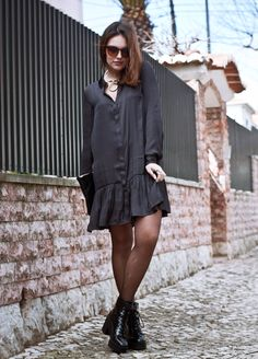 long sleeved dress 2017 with boots