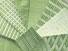 Felt & Wire: Decorative Paste Paper Green 27 from Thornwillow Press