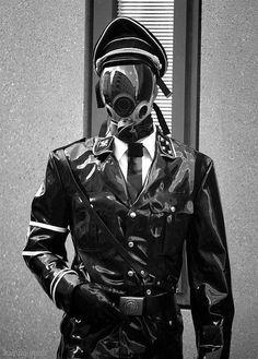 Shiny Cyberpunk Sado-Military Soldier