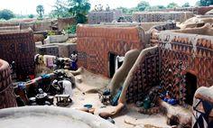 gurunsi earth houses of burkina faso