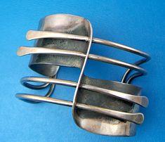 Art Smith Modernette Sterling Cuff Bracelet - Modernist (item #957217, detailed views)