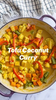 Great Vegan Recipes, Allergy Free Recipes, Vegan Dinner Recipes, Tofu Recipes, Curry Recipes, Indian Food Recipes, Breakfast Recipes, Cooking Recipes, Healthy Recipes