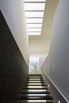 Image 10 of 18 from gallery of Training Center of Town Hall in Sevilla / Photograph by Fernando Alda Stair Steps, Cultural Center, Training Center, Town Hall, Skylight, Stairs, Architecture, Thesis, Gallery