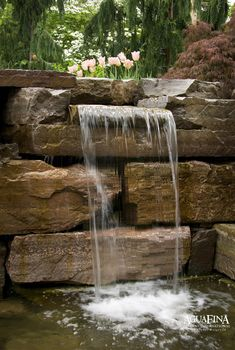 Stone & Water - modern - landscape - new york - Daryl Toby - AguaFina Gardens International Stone Water Features, Pool Water Features, Outdoor Water Features, Water Features In The Garden, Wall Of Water, Water Walls, Water 3, Backyard Water Feature, Ponds Backyard