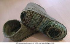 Ravelry: Slipper Boots pattern by Thomasina Cummings Designs