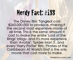 Nerdy Fact It was worth every penny too. Tangled is my favorite Disney movie of all time :) Disney Nerd, Disney Memes, Disney Quotes, Disney Love, Disney Magic, Punk Disney, Disney And Dreamworks, Disney Pixar, Wtf Fun Facts