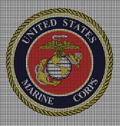 military afghan crochet pattern | crochet graph patterns military united states marine corps crochet ...
