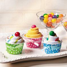 Washcloth Cupcakes - OrientalTrading.com