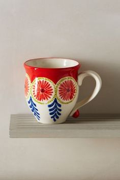 Explore Anthropologie's unique coffee mugs and teacups that make the perfect gift for yourself or a loved one. Shop our iconic monogram mugs and more. Painted Mugs, Hand Painted Ceramics, I Love Coffee, Coffee Art, Pottery Painting, Ceramic Painting, Crackpot Café, Paint Your Own Pottery, Porcelain Jewelry