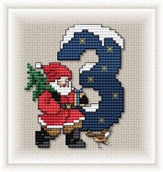 Solo Patrones Punto Cruz (pág. 497) | Aprender manualidades es facilisimo.com Xmas Cross Stitch, Cross Stitch Needles, Counted Cross Stitch Patterns, Cross Stitch Designs, Cross Stitching, Cross Stitch Charts, Cross Stitch Embroidery, Cross Stitch Numbers, Cross Stitch Letters