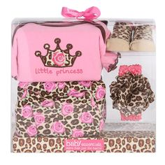 Baby Essentials New Born Girls Little Princess 4 Piece Layette | Shopko.com