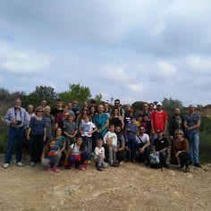 Un increíble grupo nos acompaño en la ruta del patrimonio bélico de #ribaroja. Muchas gracias! #patrimonio #historia #trincheras #visitaguiada