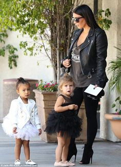 Starting young: The tots are taken to a weekly basis near their neighbourhood of Calabasas in Los Angeles