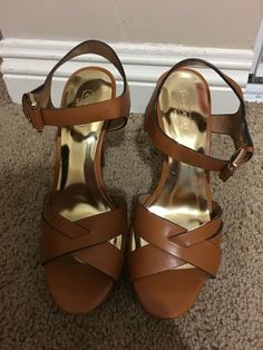 a08d8b9692 New Coach camel color sandals/ heels size 8 #fashion #clothing #shoes #