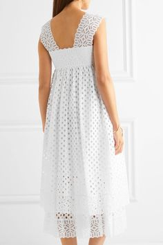 Tory Burch - Broderie Anglaise Cotton Dress - White - US10