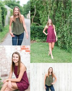 A gorgeous summer senior portrait session with variety in downtown Boiling Springs. Photographed by Mechanicsburg Pennsylvania senior photographer, Tina Jay Photography.