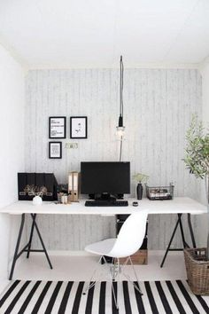 Want to have a comfortable home office to improve your productivity? Yaa, home office is a very important room. Here are some inspirations Home office design ideas from us. Hope you are inspired and enjoy . Bureau Design, Workspace Design, Office Workspace, Home Office Design, Home Office Decor, Office Designs, Office Ideas, Office Inspo, Office Setup