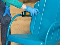 1000 Ideas About Painting Metal Furniture On Pinterest Paint Metal Metals And Spray Painting