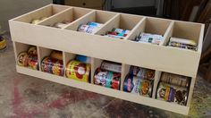 Woodworking for Mere Mortals: Free woodworking videos and plans. : Get organized! Canned goods dispenser.