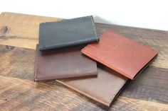 Leather Wallet and Key Fob Gift Set by FromMarfaWithLove on Etsy