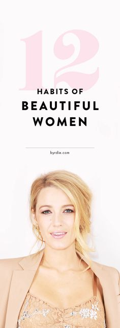 Habits of beautiful women